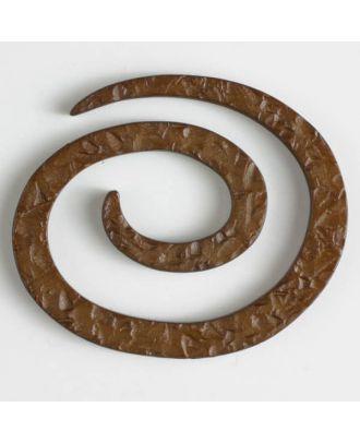 Kunststoff-Spiralverschluss zum Eindrehen, schlangenförmig - Größe: 50mm - Farbe: braun - Art.Nr. 450145