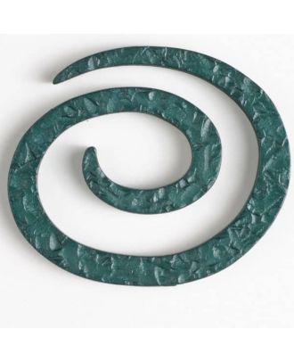 Kunststoff-Spiralverschluss zum Eindrehen, schlangenförmig - Größe: 50mm - Farbe: dunkelgrün - Art.Nr. 450147