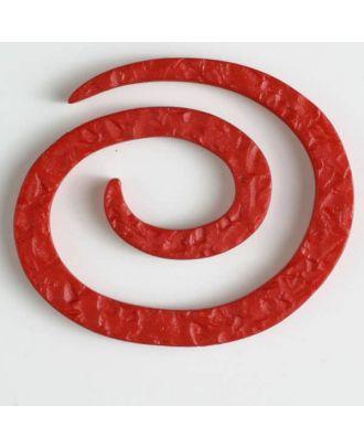 Kunststoff-Spiralverschluss zum Eindrehen, schlangenförmig - Größe: 50mm - Farbe: rot - Art.Nr. 450148