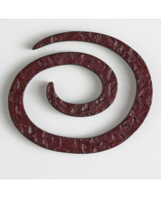 Kunststoff-Spiralverschluss zum Eindrehen, schlangenförmig - Größe: 50mm - Farbe: rot - Art.Nr. 450149