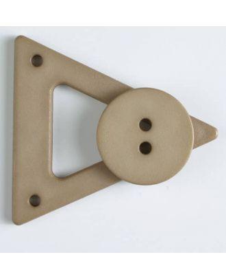 Kleidungsverschluß mit Knopf - Größe: 70mm - Farbe: beige - Art.Nr. 470059