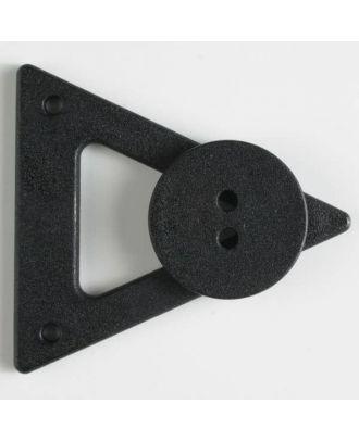 Kleidungsverschluß mit Knopf - Größe: 70mm - Farbe: braun - Art.Nr. 470061