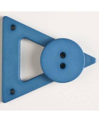 Kleidungsverschluß mit Knopf - Größe: 70mm - Farbe: blau - Art.Nr. 470062