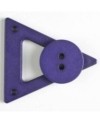 Kleidungsverschluß mit Knopf - Größe: 70mm - Farbe: lila - Art.Nr. 470064