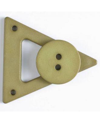 Kleidungsverschluß mit Knopf - Größe: 70mm - Farbe: grün - Art.Nr. 470065