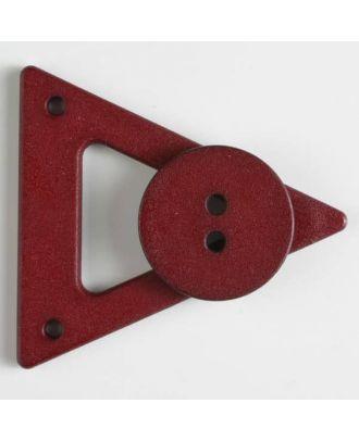 Kleidungsverschluß mit Knopf - Größe: 70mm - Farbe: weinrot - Art.Nr. 470066