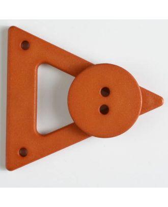 Kleidungsverschluß mit Knopf - Größe: 70mm - Farbe: orange - Art.Nr. 470067