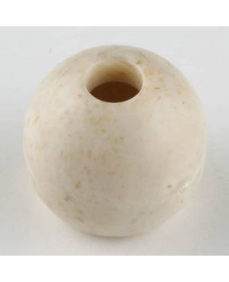 Kordelende aus echtem Holz -  Größe: 16mm - Farbe: beige - Art.Nr. 241223