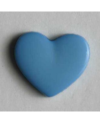 Kinderknopf in Form eines Herzes -  Größe: 13mm - Farbe: blau - Art.Nr. 170141