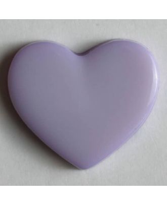 Kinderknopf in Form eines Herzes - Größe: 13mm - Farbe: lila - Art.Nr. 170378