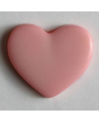 Kinderknopf in Form eines Herzes - Größe: 13mm - Farbe: pink - Art.Nr. 170364