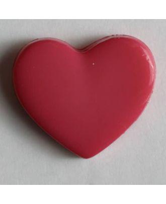 Kinderknopf in Form eines Herzes - Größe: 13mm - Farbe: pink - Art.Nr. 170346