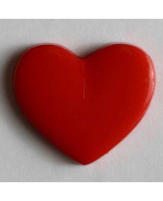 Kinderknopf in Form eines Herzes - Größe: 13mm - Farbe: rot - Art.Nr. 170136