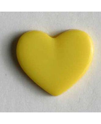 Kinderknopf in Form eines Herzes -  Größe: 13mm - Farbe: gelb - Art.Nr. 170138