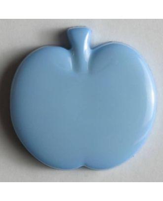Kinderknopf in Form eines Apfels - Größe: 18mm - Farbe: blau - Art.Nr. 200680