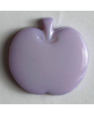 Kinderknopf in Form eines Apfels -  Größe: 14mm - Farbe: lila - Art.Nr. 180686