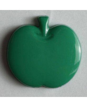 Kinderknopf in Form eines Apfels -  Größe: 14mm - Farbe: grün - Art.Nr. 180614