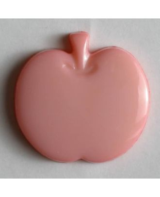 Kinderknopf in Form eines Apfels -  Größe: 14mm - Farbe: pink - Art.Nr. 180615