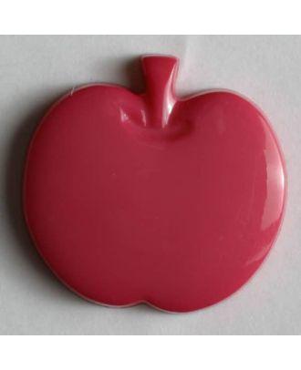 Kinderknopf in Form eines Apfels -  Größe: 14mm - Farbe: pink - Art.Nr. 180659