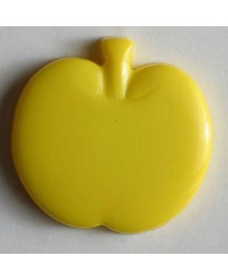 Kinderknopf in Form eines Apfels - Größe: 18mm - Farbe: gelb - Art.Nr. 200783