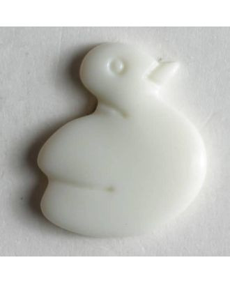 Kinderknopf in Form einer Ente - Größe: 14mm - Farbe: weiß - Art.Nr. 210703