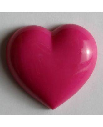 Kunststoffknopf in Form eines Herzes - Größe: 11mm - Farbe: pink - Art.Nr. 190988