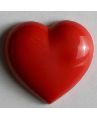 Kunststoffknopf in Form eines Herzes - Größe: 20mm - Farbe: rot - Art.Nr. 251067