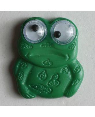 Kinderknopf in Form eines Frosches - Größe: 20mm - Farbe: grün - Art.Nr. 280257