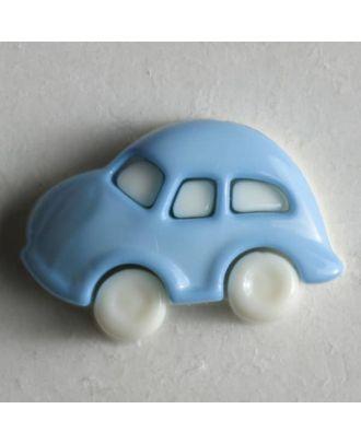 Kinderknopf in Form eines Autos - Größe: 20mm - Farbe: blau - Art.Nr. 230911