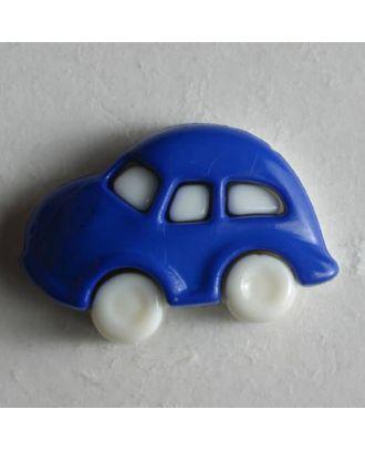 Kinderknopf in Form eines Autos -  Größe: 20mm - Farbe: blau - Art.Nr. 230912