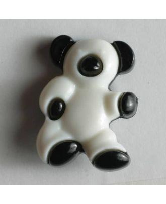 Kunststoffknopf in Form eines Bärchens - Größe: 18mm - Farbe: schwarz - Art.Nr. 231004