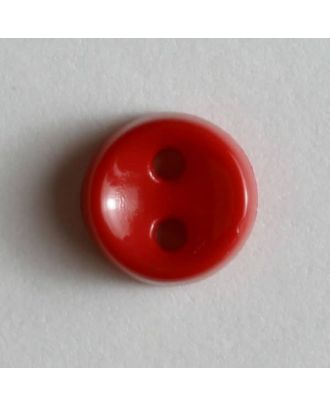 winziger Puppenknopf - Größe: 7mm - Farbe: rot - Art.Nr. 150181