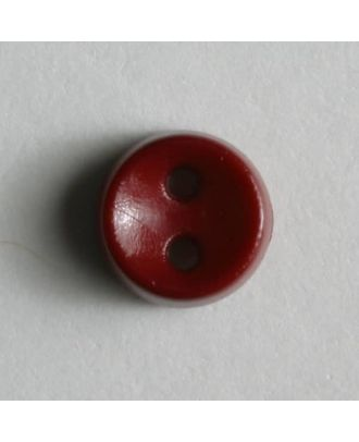 winziger Puppenknopf - Größe: 7mm - Farbe: rot - Art.Nr. 150182