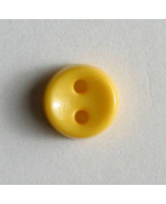 winziger Puppenknopf - Größe: 7mm - Farbe: gelb - Art.Nr. 150183