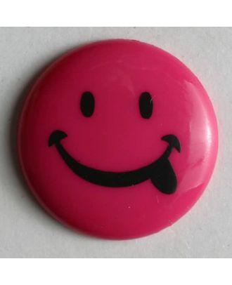 frecher Smilyknopf - Größe: 18mm - Farbe: pink - Art.Nr. 221097