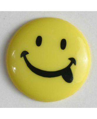 frecher Smilyknopf - Größe: 18mm - Farbe: gelb - Art.Nr. 221088