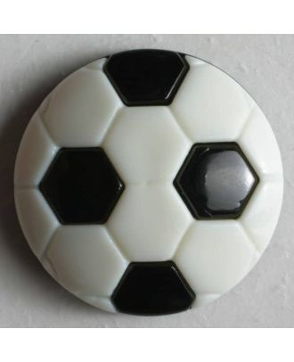 Fussballknopf - Größe: 20mm - Farbe: schwarz - Art.Nr. 251113