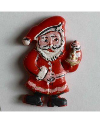 Weihnachtsknopf Nikolaus - Größe: 25mm - Farbe: rot - Art.Nr. 320096
