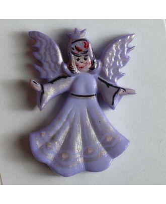 Weihnachtsknopf schöner Engel - Größe: 25mm - Farbe: lila - Art.Nr. 320097