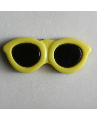 Kinderknopf in Form einer Sonnenbrille - Größe: 30mm - Farbe: gelb - Art.Nr. 320402