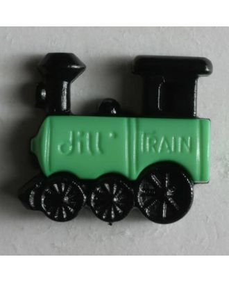 Kinderknopf Dampflokomotive - Größe: 20mm - Farbe: schwarz - Art.Nr. 231385