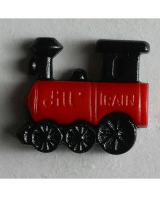 Kinderknopf Dampflokomotive - Größe: 20mm - Farbe: schwarz - Art.Nr. 231386