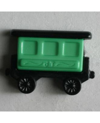 Kinderknopf Eisenbahnwaggon - Größe: 20mm - Farbe: schwarz - Art.Nr. 231348