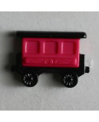 Kinderknopf Eisenbahnwaggon - Größe: 20mm - Farbe: schwarz - Art.Nr. 231349