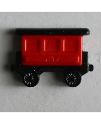 Kinderknopf Eisenbahnwaggon - Größe: 20mm - Farbe: schwarz - Art.Nr. 231350