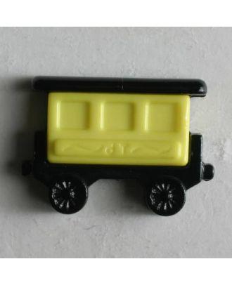 Kinderknopf Eisenbahnwaggon - Größe: 20mm - Farbe: schwarz - Art.Nr. 231351