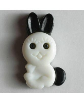 Kinderknopf Häschen mit langen Ohren - Größe: 20mm - Farbe: schwarz - Art.Nr. 250814