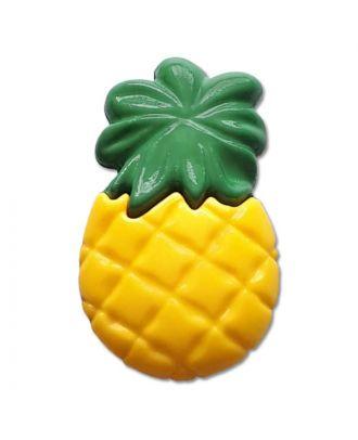 Kinderknopf Ananas - Größe: 25mm - Farbe: grün - Art.Nr. 350146