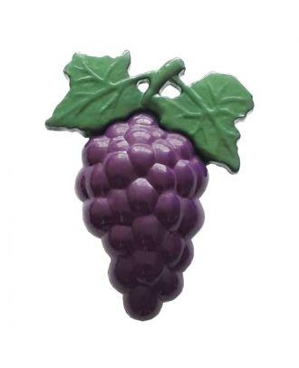 Kinderknopf blaue Weintrauben - Größe: 28mm - Farbe: grün - Art.Nr. 350145