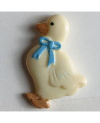 Kinderknopf Ente mit Schleifchen- Größe: 25mm - Farbe: beige - Art.Nr. 251111